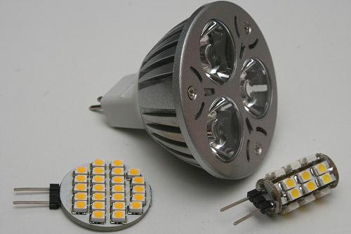 DC12V用のLED電球 は既に市販されていますが、種類が少なく、欲しいと思うモノがありません。ポーチライト用には明るさよりも消費電力の低さを重視して、DXで買ったLED