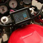 バイクにE-100MP+自作ステー